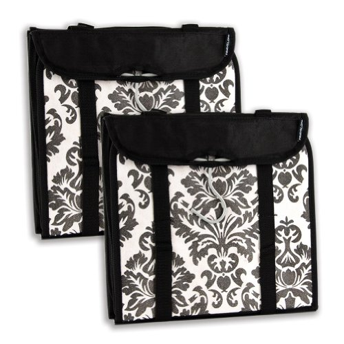 Travelon Hanging Handbag Organizer - Set of 2 (Black Damask)