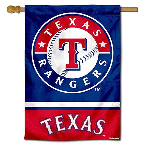 - WinCraft Texas Rangers Double Sided House Flag