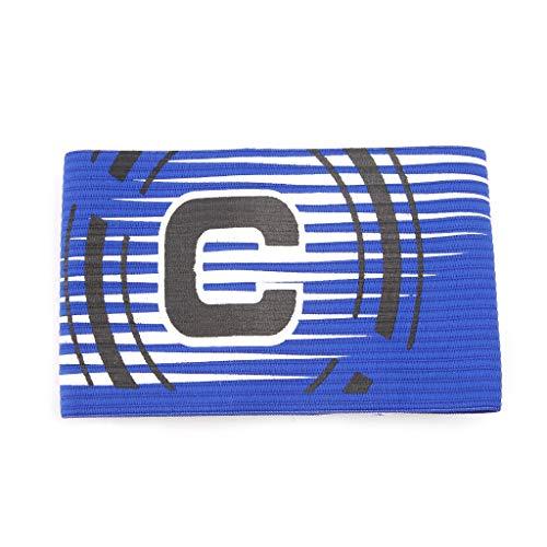 Kofun Football Captain Armband Elastic Adjustable Arm Band Leader Soccer Competition Blue