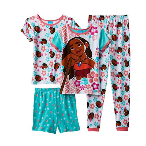Disney Moana Girls 4 pc. Pajama Set