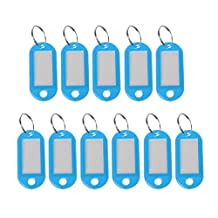 AISme 11PCS Plastic Name Tags Key Chain Small Size Multi-Color ID Tag Set for Luggage