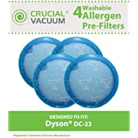 4 Replacement for Dyson DC23 Pre-Motor Filter, Compatible With Part # 913394-01, Washable & Reusable, by Think Crucial