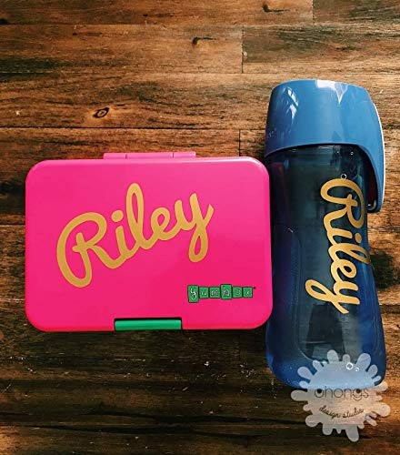 Personalized name set/Custom name sticker/lunchbox sticker/Baby Name Decal/kids name/Initial/Back to School/Gift/Must have item