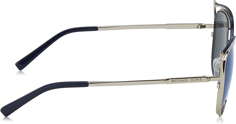 Michael Kors Sonnenbrille INA (MK1020) Argenté (Navy/Silver/Tone/Navy Mirror)
