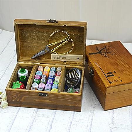 Desconocido Genérico 2: Caja de Costura de Madera para el hogar ...