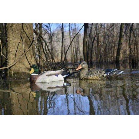 Magnum Weighted Keel Mallard Duck (Higdon Magnum Mallard Duck 6 Pack (Flocked Head) 17042)