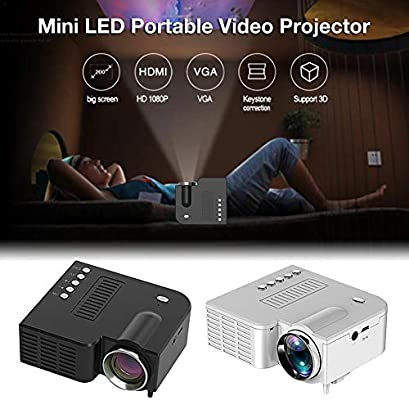 Joojun UC28C Mini proyector Cine en casa, 1080P HD LED ...