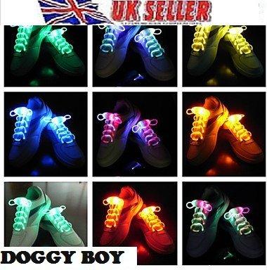 Viskey LED Shoelaces Light up Flashing Shoe Laces or Fluorescence Shoelaces- Rave Party Accessories,led,blue