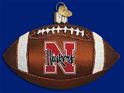 Old World Christmas Nebraska Football Glass Blown Ornament