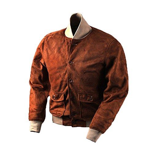 Flight Suit Replica - VTGDR Men's Faux Suede Leather Baseball Bomber Jackets XL