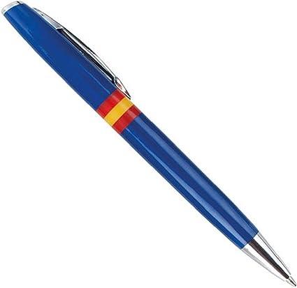 LOTE 10 Bolígrafos bandera de España, color azul: Amazon.es: Oficina y papelería