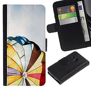All Phone Most Case / Oferta Especial Cáscara Funda de cuero Monedero Cubierta de proteccion Caso / Wallet Case for Samsung Galaxy S3 MINI 8190 // Hot Air Balloon