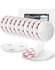 COM-FOUR® set van 10 magnetische houder voor veiligheidsdetectoren - houder met zelfklevende pads voor rookmelders - Ø 7 cm (10 stuks - magnetische houder)