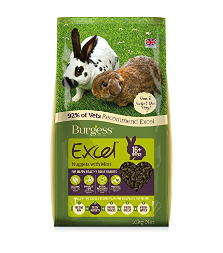 Pet 367551 Burgess Excel Adult Rabbit Nuggets With Mint  G