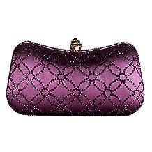 DMIX Womens Evening Bag with Rhinestone Crystal Clutch