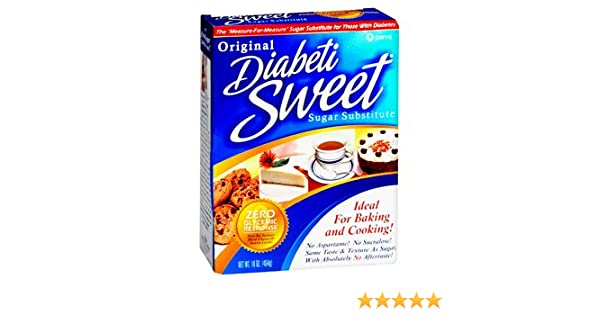 Amazon.com : Special pack of 5 DIABETISWEET SUGAR SUBSTITUTE 16 oz : Sugar Substitute Products : Grocery & Gourmet Food