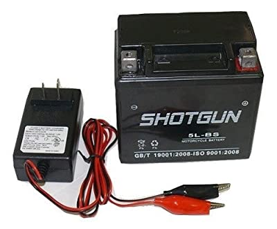 YTX5L-BS ATV Battery/Charger for POLARIS Predator, Sportsman, Outlaw 90CC 03-'09