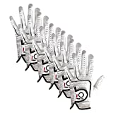 Finger Ten 2017 Mens All Premium Soft Cabretta Leather Tour Durafit Left Hand Lh Golf Gloves Extra Value 6 Pack With Cadet Size