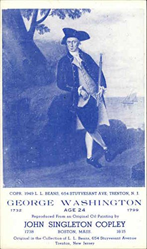 Old Original Art Painting - George Washington Painting by John Singleton Copley Art Original Vintage Postcard