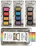 Tim Holtz Distress Archival Mini Ink Kit 1, Kit 2, Kit 3 and Storage Tin - 4 Item Bundle