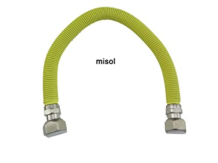 "MISOL 1 pcs of 40cm 1/2""(BSP) Flexible Stainless Steel hose"