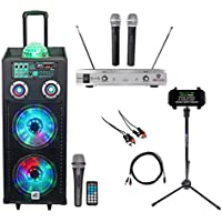 NYC Acoustics 10 Karaoke Machine/System+(2) Mics+Tablet Stand 4 ipad/iphone/TV