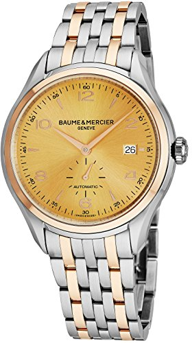 Baume-Mercier-Clifton-Mens-Two-Tone-Automatic-Watch-41mm-Analog-Yellow-Gold-Face-Swiss-Luxury-Dress-Watch-For-Men-10352