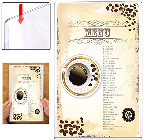 Clear Plastic Menu Covers - 1