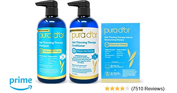 92f12cfd10f Amazon.com   PURA D OR Hair Thinning Therapy 3-piece Set