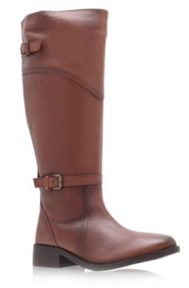 Kurt Geiger Miss Britney Tan Leather Riding Style Boots