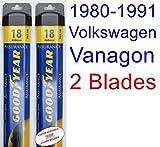 1980-1991 Volkswagen Vanagon Replacement Wiper Blade Set/Kit (Set of 2 Blades) (Goodyear Wiper Blades-Assurance) (1981,1982,1983,1984,1985,1986,1987,1988,1989,1990)