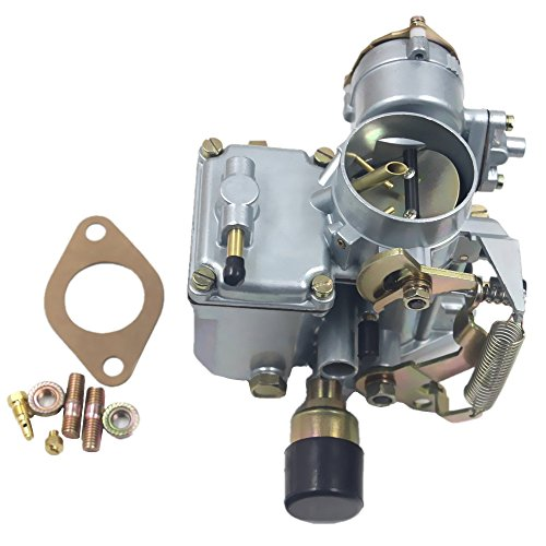 iFJF Carburetor for VW Beetles Super Beetles 1971-1979 Dual Port 1600cc Engine with 12V Electric Choke 34 PICT-3 113129031K 98-1289-B Volkswagen Bug Bus Thing Karmann Ghia Squareback Transporter ()