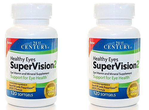 21st Century Healthy Eyes SuperVision2 Softgels, 120 Count (Pack of 2)