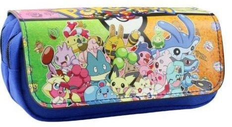 Kids Craze UK Trousse à deux compartiments motif Pokémon, bleu KTRADING
