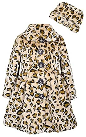 Widgeon Big Girls' Twirly Bottom Coat with Hat, Baby Leopard, 2