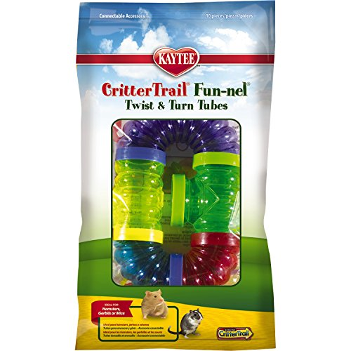 Kaytee Crittertrail Fun-Nels Twist and Turn Tubes - 10 pc. (Crittertrail Funnels Tube)
