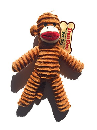 Dan Dee Only The Best For My Dog Pet sock Monkey Toy (Brown)