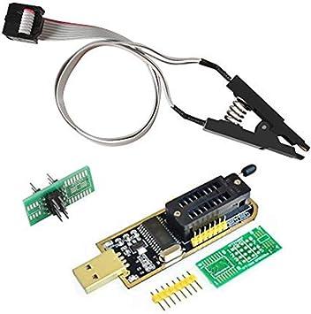 Organizer Soic8 Sop8 Test Clip Für Eeprom 93cxx 25cxx 24cxx Ch341a 24 25 Series Eeprom Flash Bios Usb Programmer Modul 1 Baumarkt
