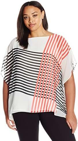 Calvin Klein Women's Plus Size Printed Kaftan