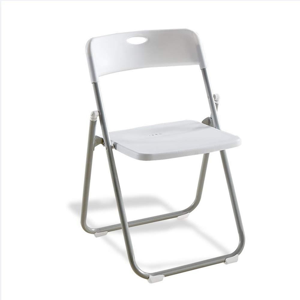 Vnlig Klappstuhl Kunststoffstuhl Tragbarer Klappstuhl Freizeit Büro Besprechungsstuhl Camping Stuhl im Freien Stuhl (Farbe   Orange) Weiß