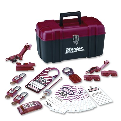Master Lock Personal Lockout Toolbox Kit, Includes 3 Aluminum Padlocks by Master Lock