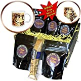 3dRose Sven Herkenrath Animal - Illustration of two Fighting Tigers with Colorful Background - Coffee Gift Baskets - Coffee Gift Basket (cgb_294948_1)