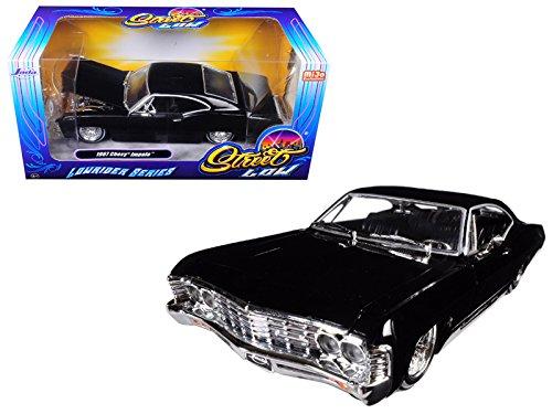 Jada 98934 1967 Chevrolet Impala Black Lowrider Series Street Low 1/24 Diecast Model Car