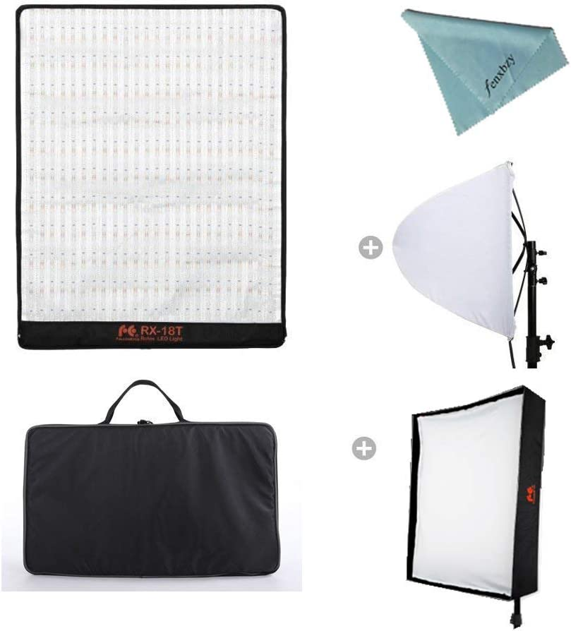 Falconeyes RX-18T Kit Lightweight Studio light Roll-Flex LED Video Light Waterproof Lamp with Diffuser