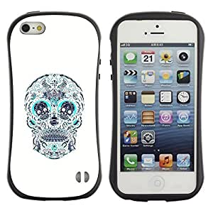 Be-Star Colorful Printed Design Anti-Shock Iface First Class Tpu Case Bumper Cover For Apple iPhone 5 / iPhone 5S ( skull teal white pattern floral death ) Kimberly Kurzendoerfer