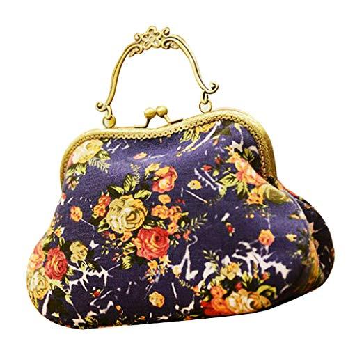 Floral Handbag Metal Frame DIY Needlework Patchwork Sewing Materials Kits A