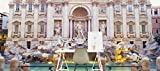 Trevi Fountain Rome Italy on Smooth Peel & Stick Decal Wallpaper by CustomWallpaper.com