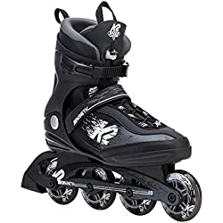 K2 Skate Men's Kinetic 80 Pro Inline Skate, Black White, 10