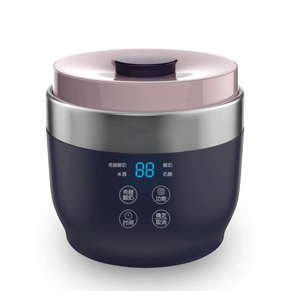 KMMF suannaiji Yogurt Maker Inizio automatico del yogurt Macchina Ceramic Cup in casa del formaggio Macchina Yogurt Greco (Colore : Blu scuro) gaoyunyundedianpu