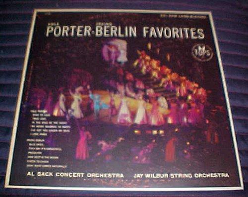 Cole Porter Irving Berlin Favorites Al Sack Concert Orchestra Jay Wilbur String Orchestra Record Vinyl Album